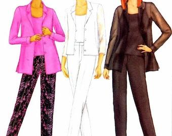Butterick 6710 Misses Shirt Caimsole Pants Sewing Pattern Size 6 - 8 - 10 Bust 30 1/2 - 31 1/2 - 32 1/2 UNCUT