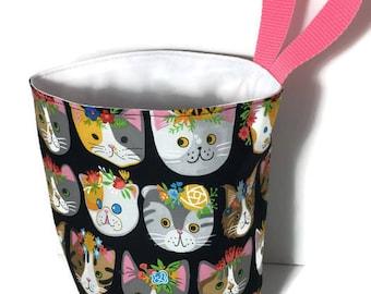 Cat Faces Waterproof Car Trash Bag, Litter Bag, Car Accessory, Storage Bag, Trash Bag, Waterproof Car Bag, Organizer Bag, Storage Bag