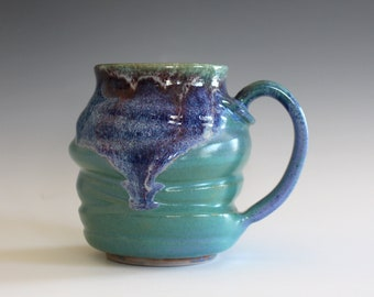 Coffee Mug Pottery, 12 oz, unique coffee mug, handmade ceramic cup, handthrown mug, stoneware mug, pottery mug, ceramics and pottery