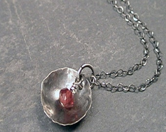 Brooke Necklace - Garnet and Sterling Silver