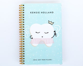 Lilac Planner - Princess Prophy - Dental and Dental Hygiene Assistant Student Planner - Lilac Paper