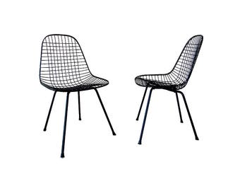 Charles & Ray Eames For Herman Miller DKX WIre Dining Chairs