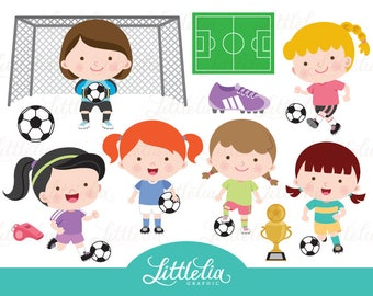 Soccer girl clipart - soccer clipart - 17030