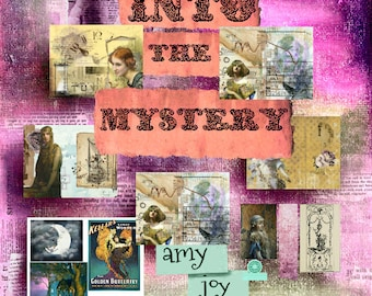 Into the Mystery  Junk Journal Kit  Mystical  Digital Journal Kit  junk journal kit vintage  ephemera   mythical  boho journal  ephemera