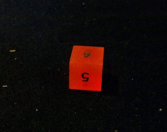 translucent red d6