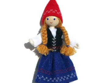 Christmas Elf - Scandinavian Elf - Bendy Doll - Kindness Tradition - Caring Elves - Christmas Elves - Norwegian - Swedish - Danish