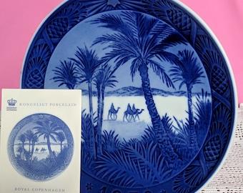 Royal Copenhagen 1972 Christmas Plate - In The Desert