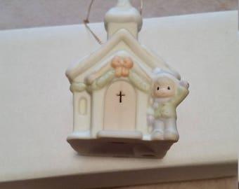 Vintage Precious Moments Church Ornament