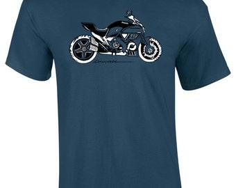 Mens Ducati Motorbike T-Shirt S M L XL XXL Gift Present for Petrol Heads
