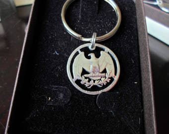 Washington quarter eagle key ring