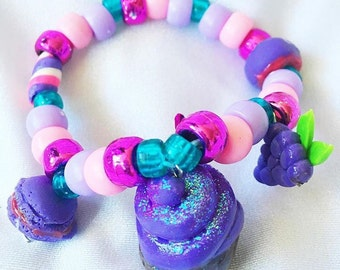 Purple Sweets Kandi Bracelet