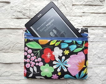 """Sachet, pochette in cotton fabric, padded with zipper in """"prompt delivery"""""""