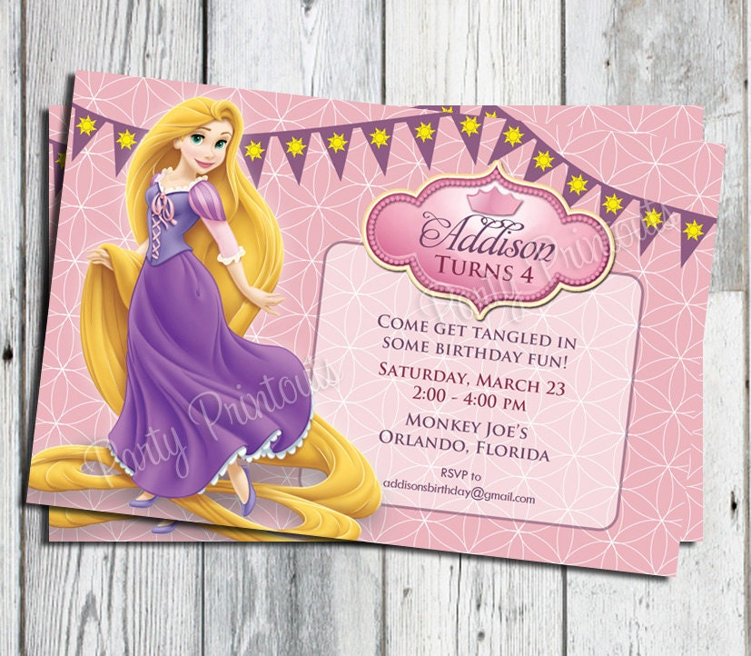 Tangled invitation tangled birthday party invitation zoom bookmarktalkfo Image collections