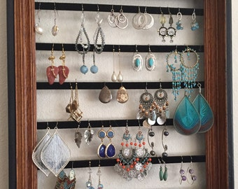 Frame Wall-Hanging Earring Organizers