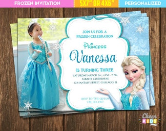 Frozen invitation etsy sale frozen invitation stopboris Images