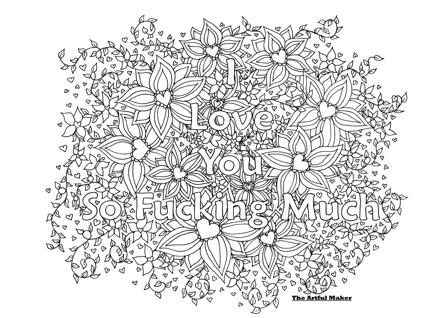 zoom - I Love You Coloring Pages