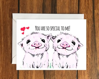 You are so special to me piglets greeting card A6 One Card and Envelope Valentine's Romantic