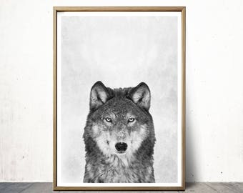 Wolf Print - Wolf Art - Wolf Poster - Animal Prints