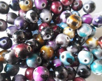 x 10 mixed beads spacer pattern 12 mm round