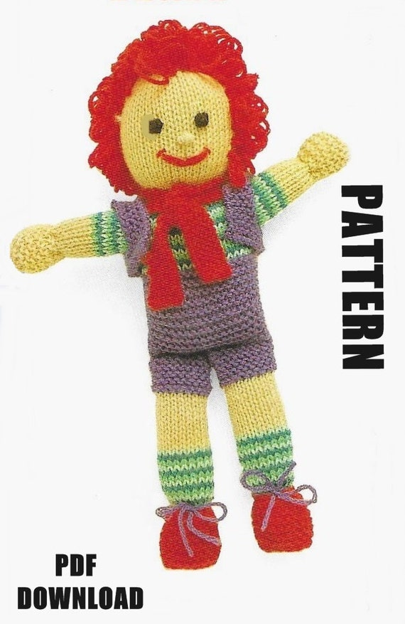 Flash Sale Knitted Doll Knitting Pattern Rag Doll Happy