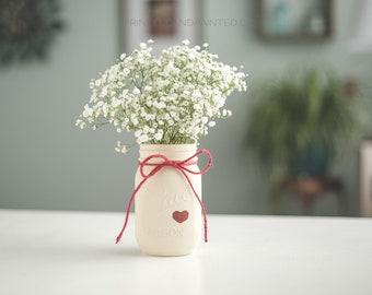Ivory Heart Vase
