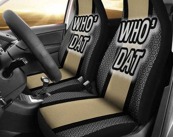 """New Orleans Saints NFL """"Who Dat"""" Car Seat Covers/ suv seat covers/ truck seat covers"""