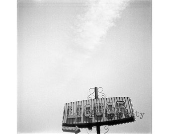Original Black and White Photograph - Liquor in the Sky