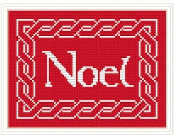 Celtic Noel Cross Stitch PDF Chart Pattern