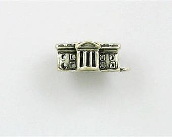 Sterling Silver 3-D White House Charm