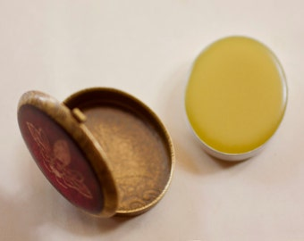 Aurora Solid Natural Perfume Refill for Tapestry Oval Design Compact - Romantic case with handmade plant fragrance