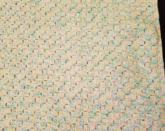 Crochet Corner to Corner Baby Blankets in Neutral Colors