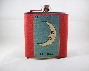 retro Loteria flask vintage mexicana folk art rockabilly kitsch