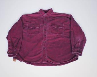 "Vintage St. John's Bay ""Heavyweight"" Button Down Shirt Size Large"