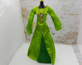 Barbie Shiny Green Gown   fashions Outfit 11 inch doll