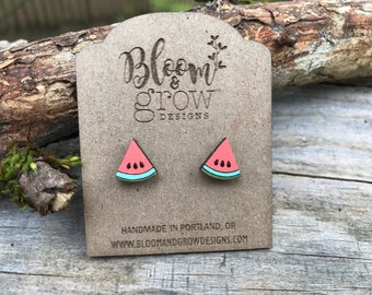 Wooden Studs - Watermelon