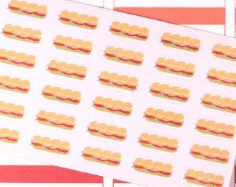 Sub Sandwich Planner Stickers