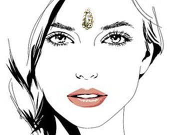 Crystal Face Jewel Tear Drop Bindi Premium Face and Eyebrow Fancy Decorations