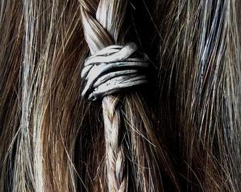 Viking Hair Bead Kit No.22 silver hair bead viking jewelry Celtic steampunk cosplay goth BOHO hair jewelry TIBETAN ALLOY
