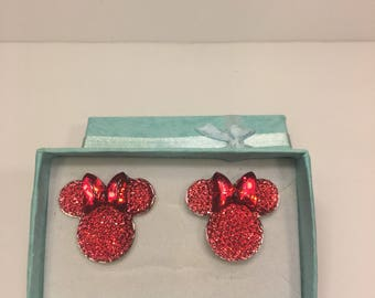 Red Minnie Mouse Earrings