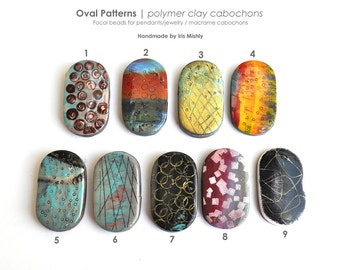 Macrame Beads, Pattern Beads, Clay Beads, Artisan, Knotting, Focal Pendant, Polymer Clay Beads, Ceramic, Organic, Fimo Jewelry, Retro Beads
