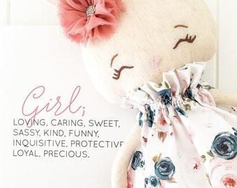 Miss Jade || Big Bunny Keepsake Doll Decor Blush Pink Blue Nursery Bedroom Girls Gift Present Softie Australian  Christmas