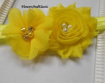 Yellow flowers Baby Headband, Newborn Headband,  Infant Headband,Baby Headband, Headband Baby, Baby Headband