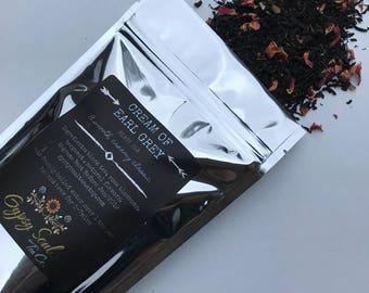 Cream Of Earl Grey Black Tea High Grade All Natural Loose Leaf Tea