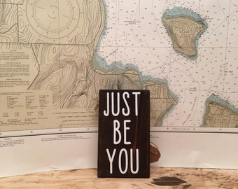 Just be you - wall decor - yarn - rustic