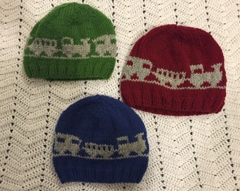 Toddler choo choo train winter hat