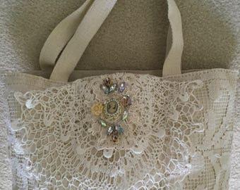 Open canvas purse