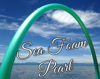 "Sea Foam Pearl Colored 3/4"" OR 5/8"" PolyPro Hula Hoop - You pick the size - by Colorado Hula Hoops"