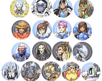 Overwatch Pins and Magnets