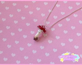 Amanita necklace mori girl and lolita style