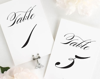 """Timeless Elegance Table Numbers - 4x6"""""""